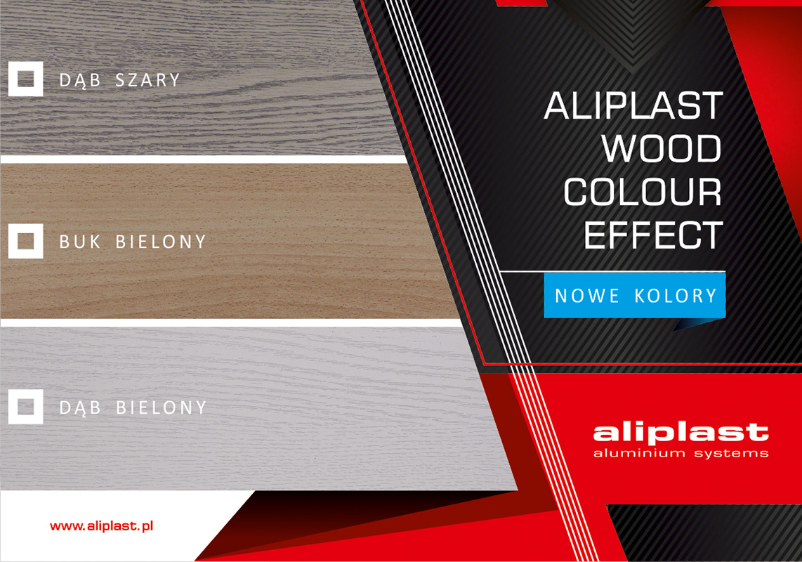 Wood colour effect aliplast nowe kolory